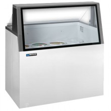 "47 3/4"" W 12 Tub Low Glass Lighted Dipping Cabinet"