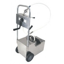 70 lb. Capacity Filter Machine/Discard Trolley with Drain Valve