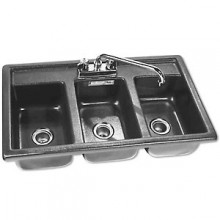 3 Well A.B.S. Drop-In Bar Sink