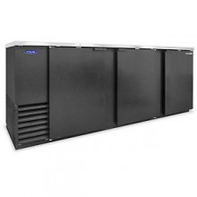 "95 1/4"" Wide Solid Door Back Bar Cooler"
