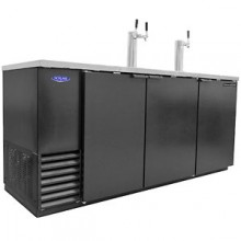 "80"" Wide Black Vinyl Direct Draw Beer Coolers"