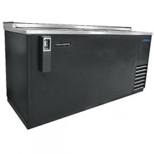 "64 1/2"" Wide Black Vinyl Bottle Cooler"