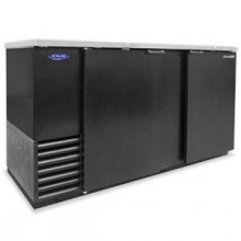 "69 1/8"" Wide Solid Door Back Bar Cooler"