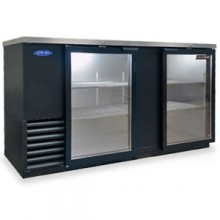 "69 1/8"" Wide Glass Door Back Bar Cooler"