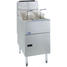 42-50 lb. Capacity Stainless Steel Economy Gas Floor Fryer