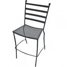 Wrought Iron Outdoor Terrace Bar Stool
