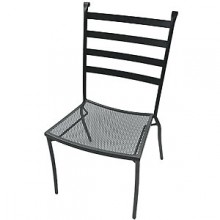Wrought Iron Outdoor Terrace Chair without Arms