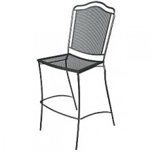 Wrought Iron Outdoor Newport Bar Stool