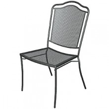 Wrought Iron Outdoor Newport Chair without Arms