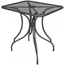 "30"" x 30"" Wrought Iron Outdoor Mesh Table Top with Butterfly Base"