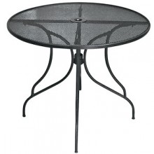 "36"" Round Wrought Iron Outdoor Mesh Table Top with Butterfly Base"
