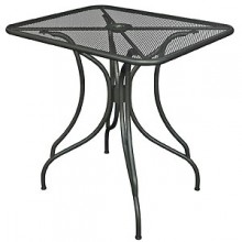 "36"" x 36"" Wrought Iron Outdoor Mesh Table Top with Butterfly Base"