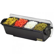 Four 3 Pint Tray Dome® Condiment Center