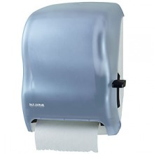 Transparent Blue Level Roll Towel Dispenser