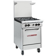 "24"" W 4 Burner 1 Oven S Series Gas Restaurant Range"