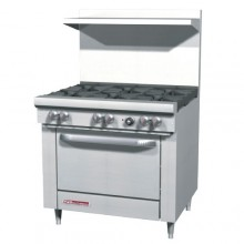 "36"" W 6 Burner 1 Oven S Series Gas Restaurant Range"