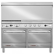 "60"" W 4 Burner 36"" Griddle 2 Oven S Series Gas Restaurant Range"