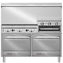"60"" W 6 Burner 24"" Griddle 2 Oven S Series Gas Restaurant Range"