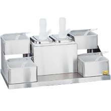 2 Pump/4 Tray Self-Service Condiment Center