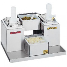 2 Pump/2 Tray Self-Service Condiment Center