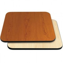 "30"" W x 48"" D x 1"" H Double-Sided Table Top - Black Edge Cherry / Natural Laminate"