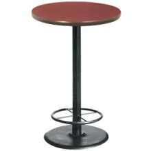 "30"" Round Complete Double-Sided Ringed Stand-Up Base Table"