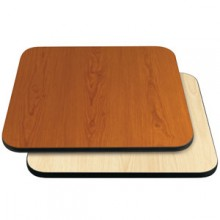 "24"" W x 24"" D x 1"" H Double-Sided Table Top - Black Edge Cherry / Natural Laminate"