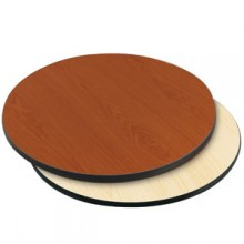 "30"" Diameter x 1"" H Double-Sided Table Top - Black Edge Cherry / Natural Laminate"