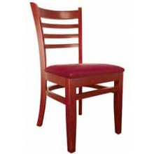 Deluxe Ladderback Chair Mahogany Finish