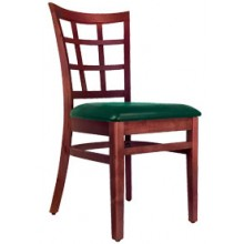 Latticeback Chair Mahogany Finish