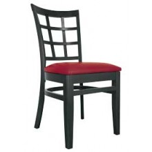 Latticeback Chair Black Finish