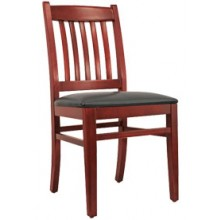 Premium Slatback Chair Mahogany Finish