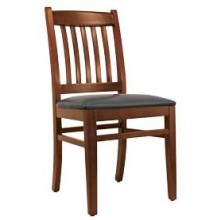 Premium Slatback Chair Walnut Finish