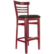 Ladderback Stool Mahogany Finish