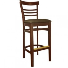 Ladderback Stool Walnut Finish