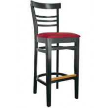 Ladderback Stool Black Finish