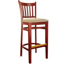 Slatback Stool Mahogany Finish
