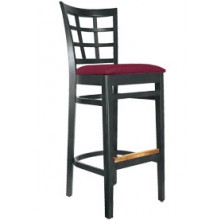 Latticeback Stool Black Finish