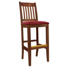 Deluxe Slatback Stool Walnut Finish