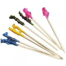 "4"" Frill Pick, Assorted Colors, 1m/box"