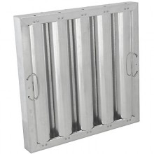 "16"" H x 16"" W Galvanized Baffle Grease Filter"