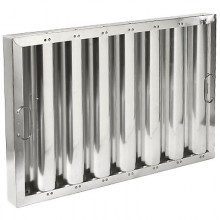"16"" H x 25"" W Aluminum Baffle Grease Filter"