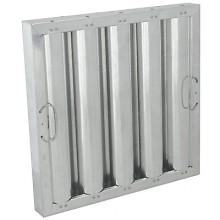 "20"" H x 20"" W Galvanized Baffle Grease Filter"