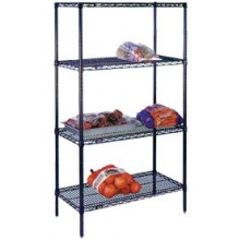 "42"" W x 24"" D x 74"" H Heavy Duty Epoxy Coated Complete Shelving Set"