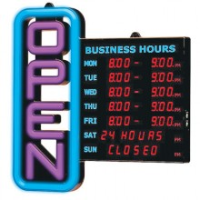 Business Hours Open Sign
