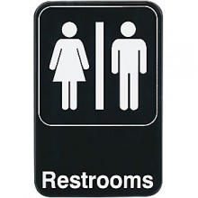Restrooms Contemporary Symbol Sign