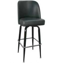 Black Box Frame Swivel Bar Stool - Black