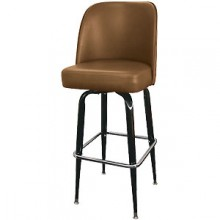Black Box Frame Swivel Bar Stool - Mocha