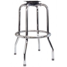 Chrome Single Ring Bar Stool Frame with Flat Swivel