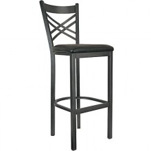 Deluxe Metal Frame Crossback Stool